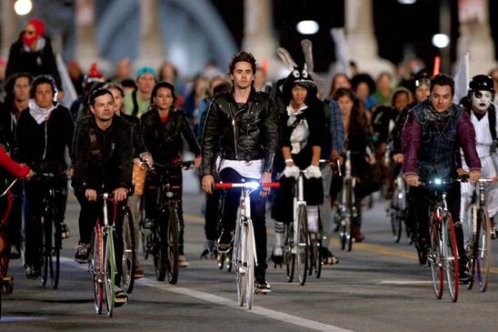 Jared Leto fixie vélo
