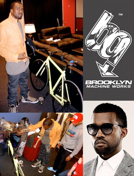 Kanye West fixie cadeau de Pharell Williams