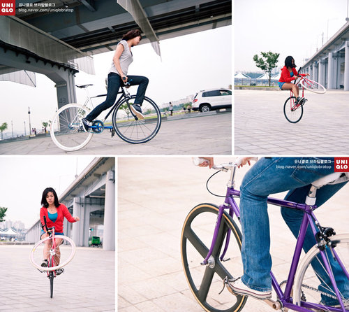 uniqlo filles et fixie 