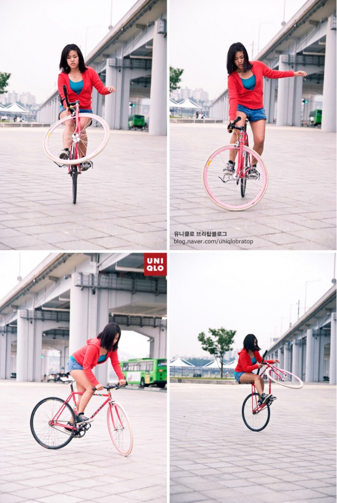 tricks fixie sexy uniqlo