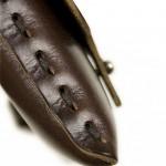 Pochette marron en cuir pour fixie