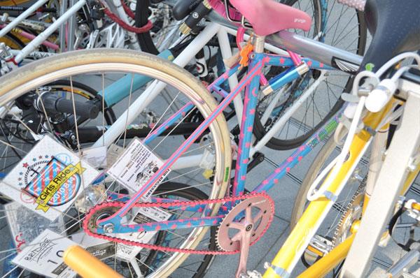 fixie bleu etoiles rose