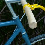 guidon en bois de frêne naturel vintage fixie