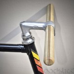 guidon en bois de noyer woodstick fixie