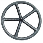 roue fixie batons aerospoke carbone