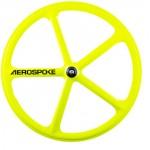 roue fixie batons aerospoke fluo
