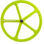 roue fixie batons aerospoke vert
