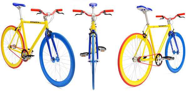 fixie create jaune bleu rouge
