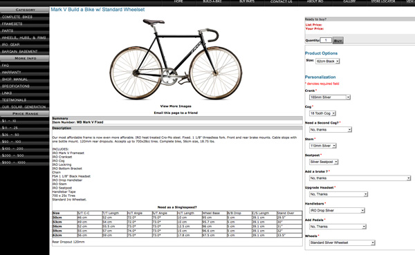screen iro cycle fixie
