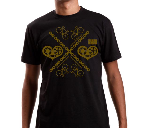 T-shirt-col-rond-noir-fixie-love