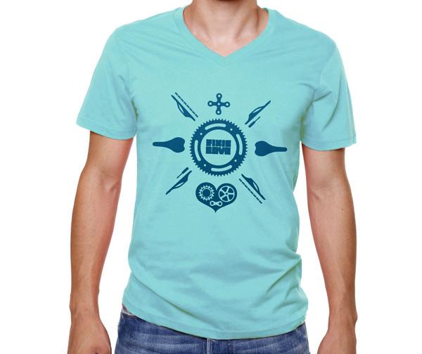 T-shirt-petit-col-v-fixie