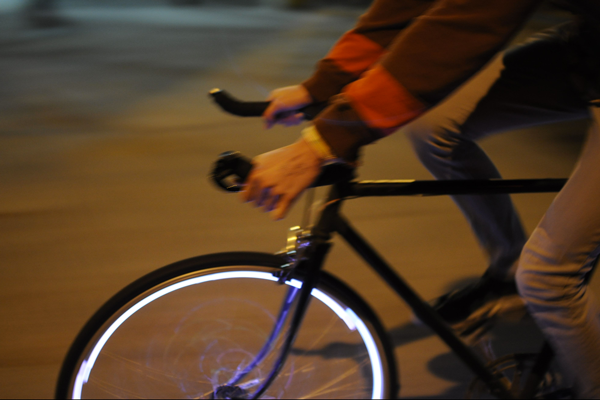 roue velo fixie lumineuse light led