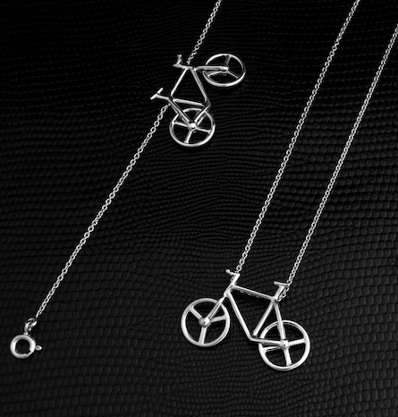 collier et bracelet &quot;Bicycle&quot; de St Jeweller