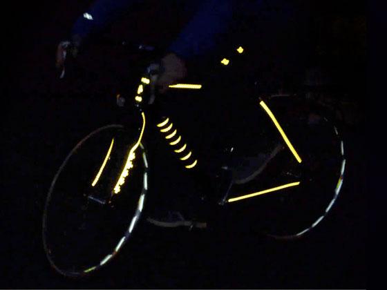 Rydesafe les stickers réfléchissants pour vélo fixie
