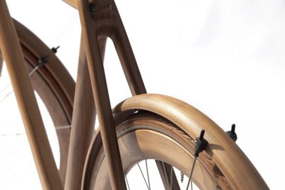 Singlespeed en bois roue arrière