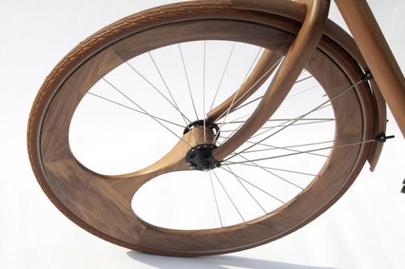Singlespeed en bois roue avant