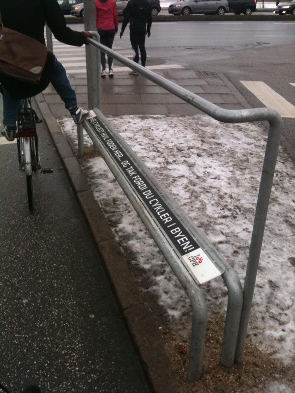 aide aux-cyclistes à Copenhage