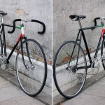 fixie italien cadre couleur de l'Italie