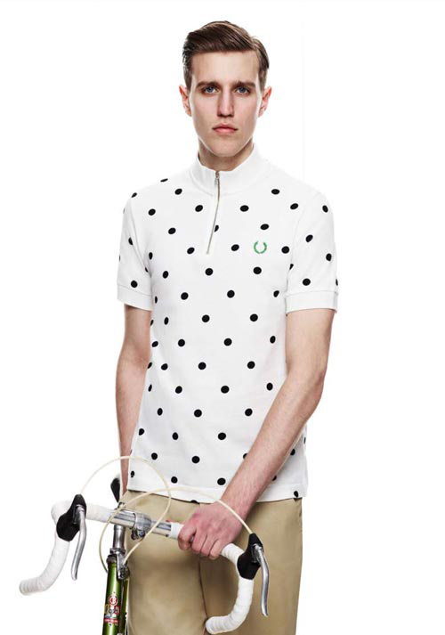 fred-perry-maillot-a pois-fixie