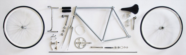 fixie-démonté-chrome-brillant
