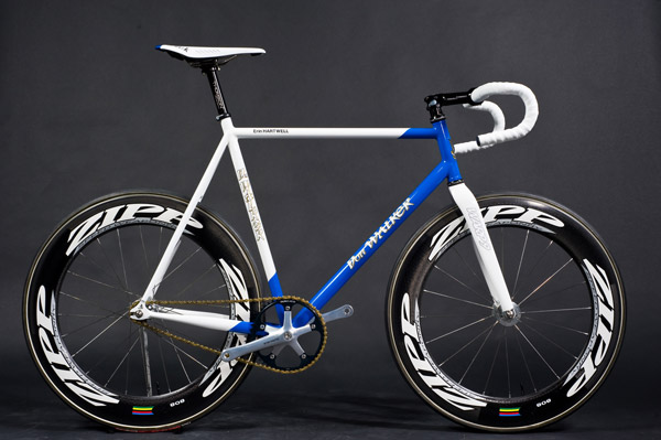 fixie bleu et blanc Don Walker