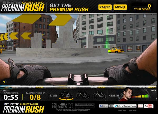 jeu premium rush fixie coursier